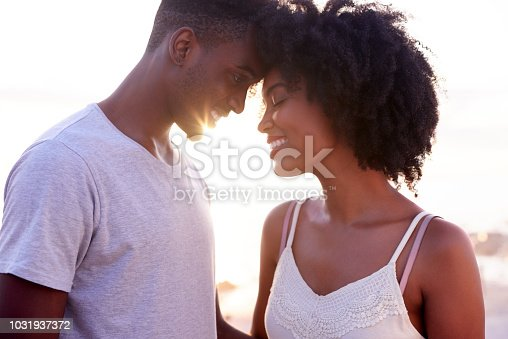 Cropped shot of a young attractive couple being affectionate while spending time together on the promenade at the beach