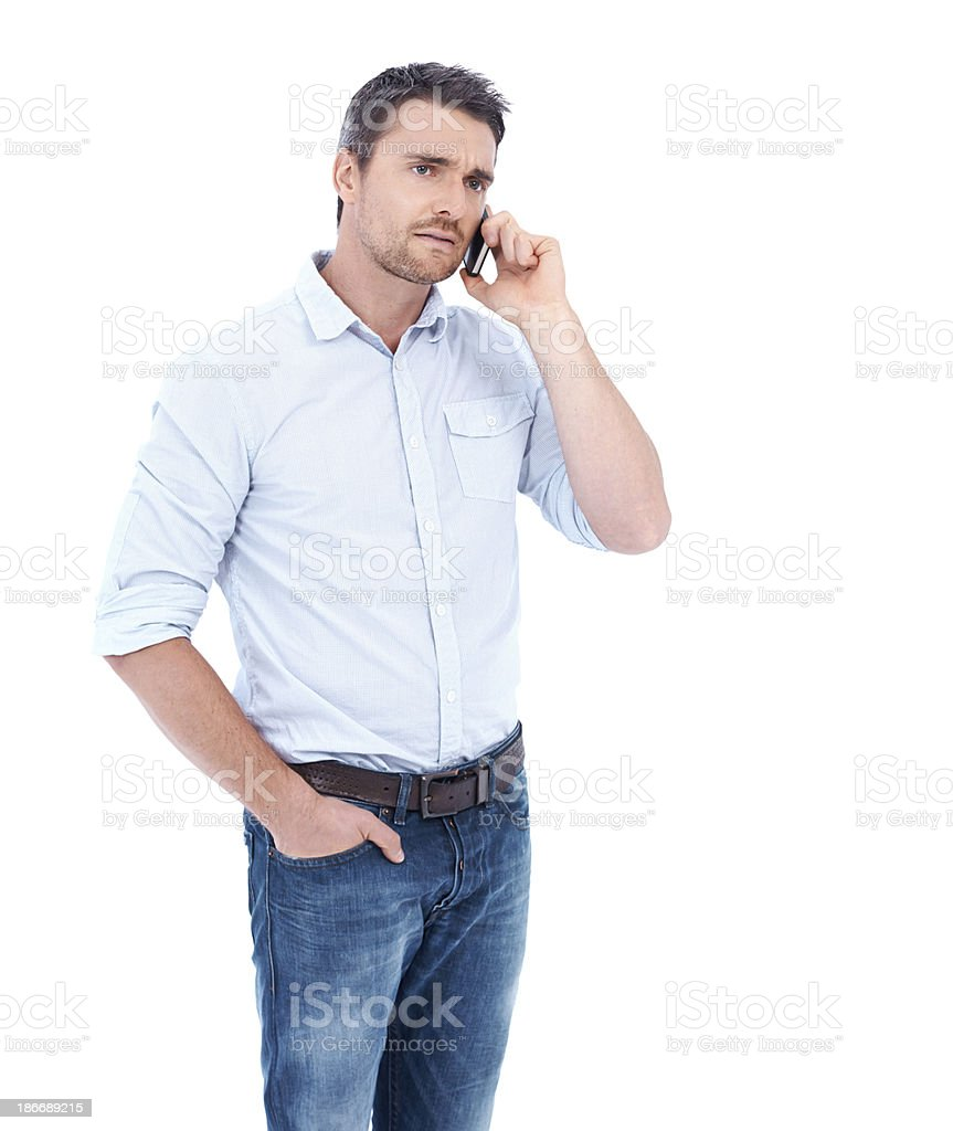 I'm sorry you feel that way royalty-free stock photo