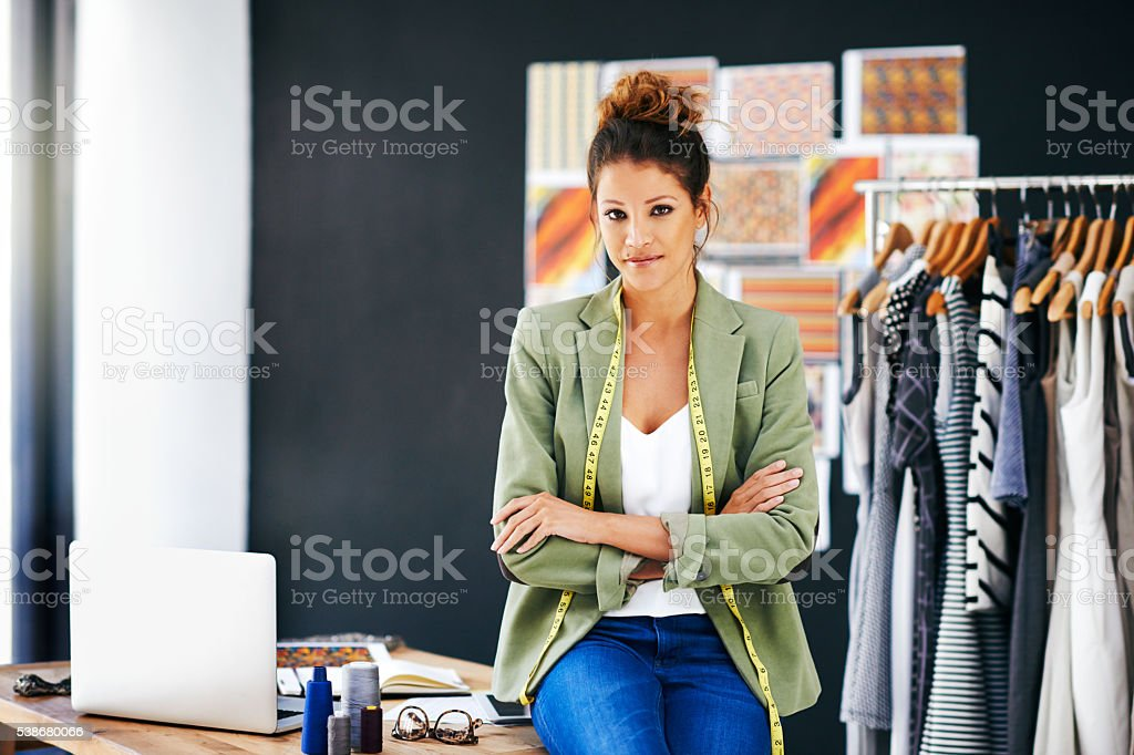 I'm taking over the fashion industry stock photo