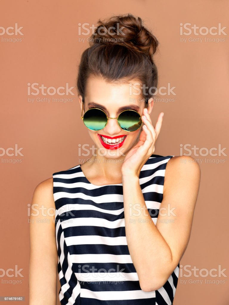 I'm taking theses shades with me wherever I go stock photo