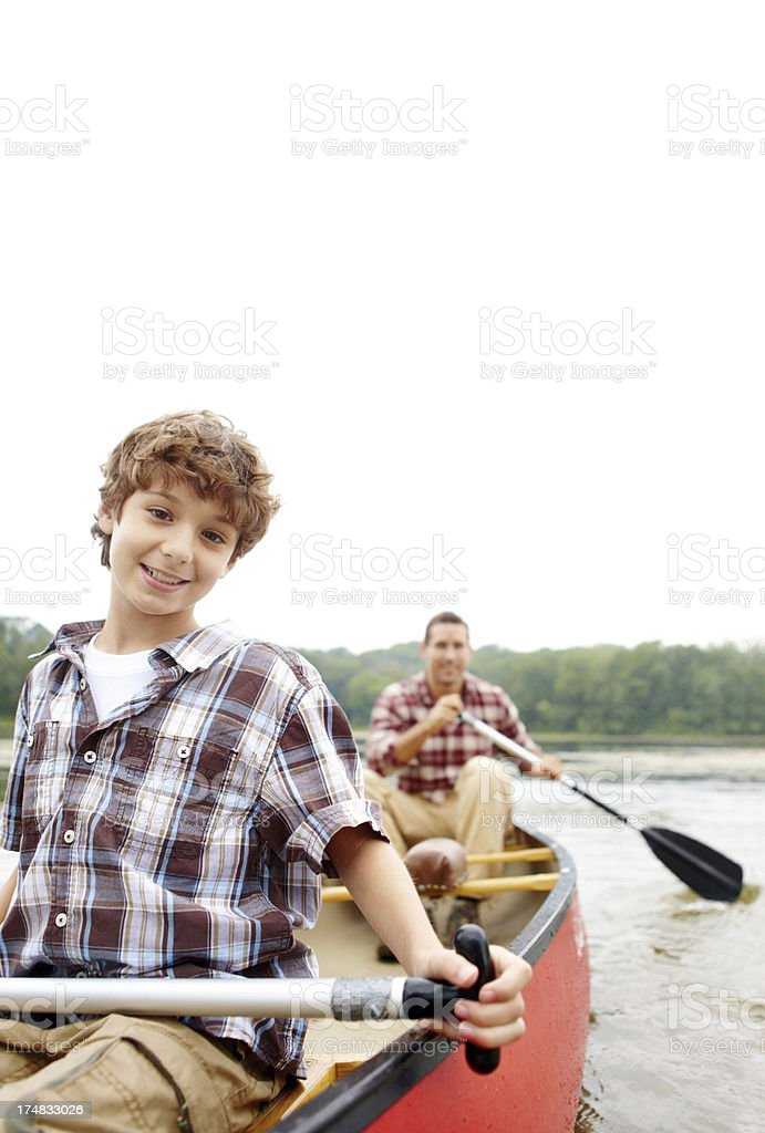 I'm the captain of this voyage! royalty-free stock photo