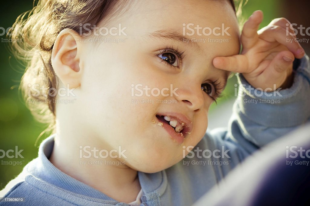 I'm the clever boy here royalty-free stock photo