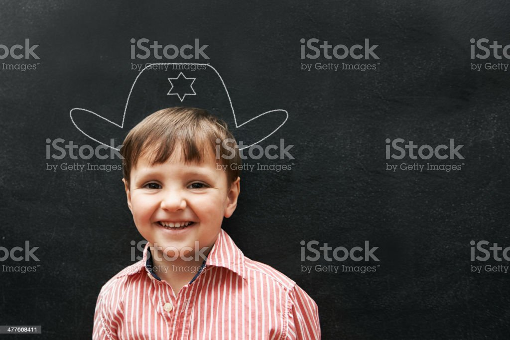 I'm the only sheriff in this school royalty-free stock photo