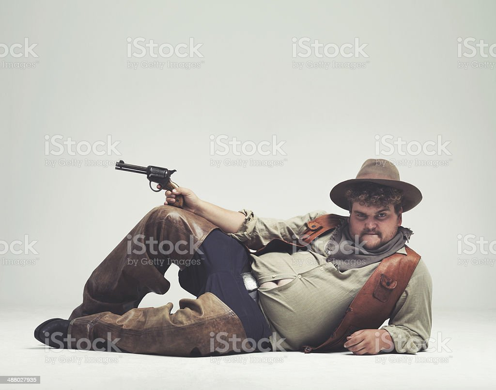 I'm too sexy for the outlaw life stock photo