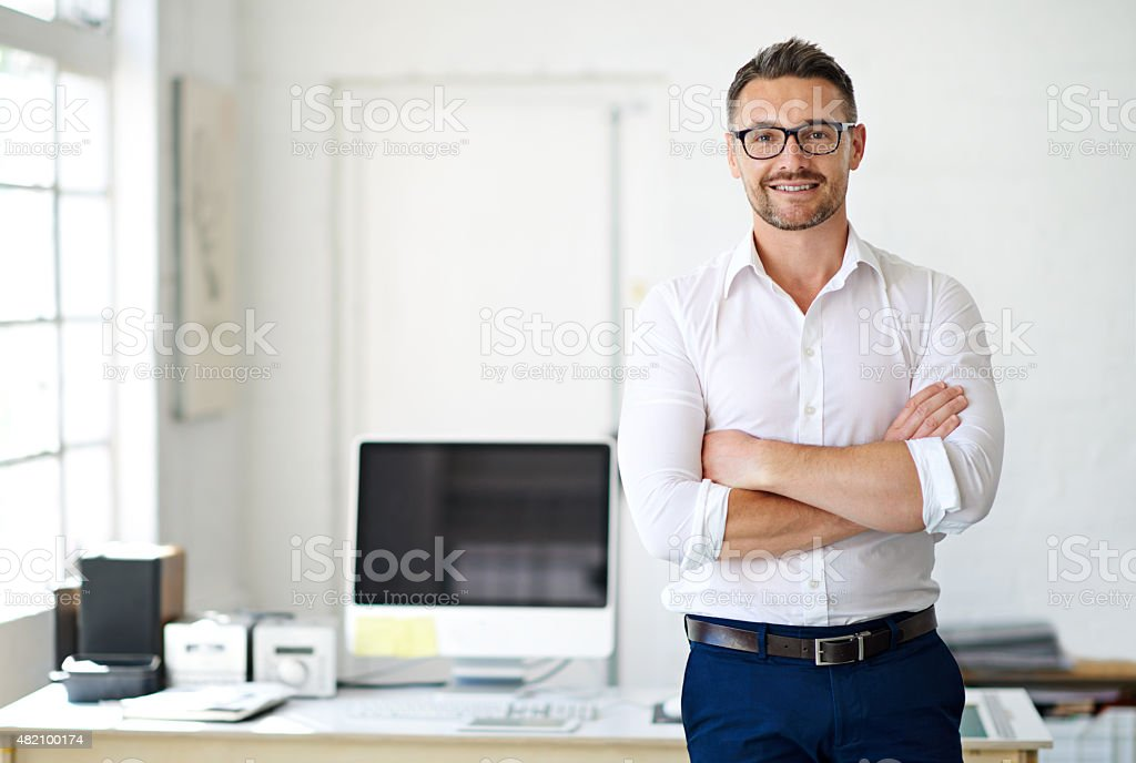 I'm up for any challenge! stock photo
