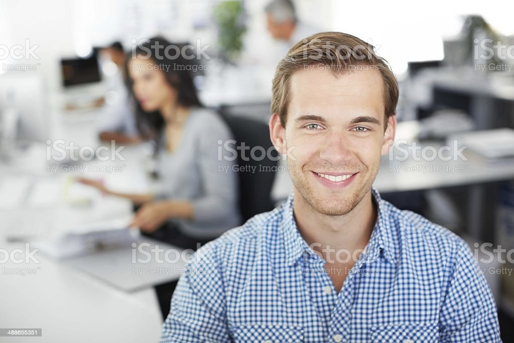 I'm willing to work my way up stock photo