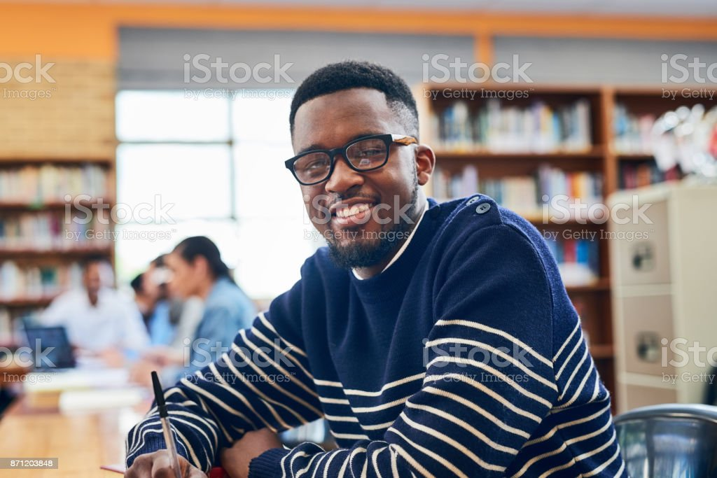 I'm working hard for those grades stock photo