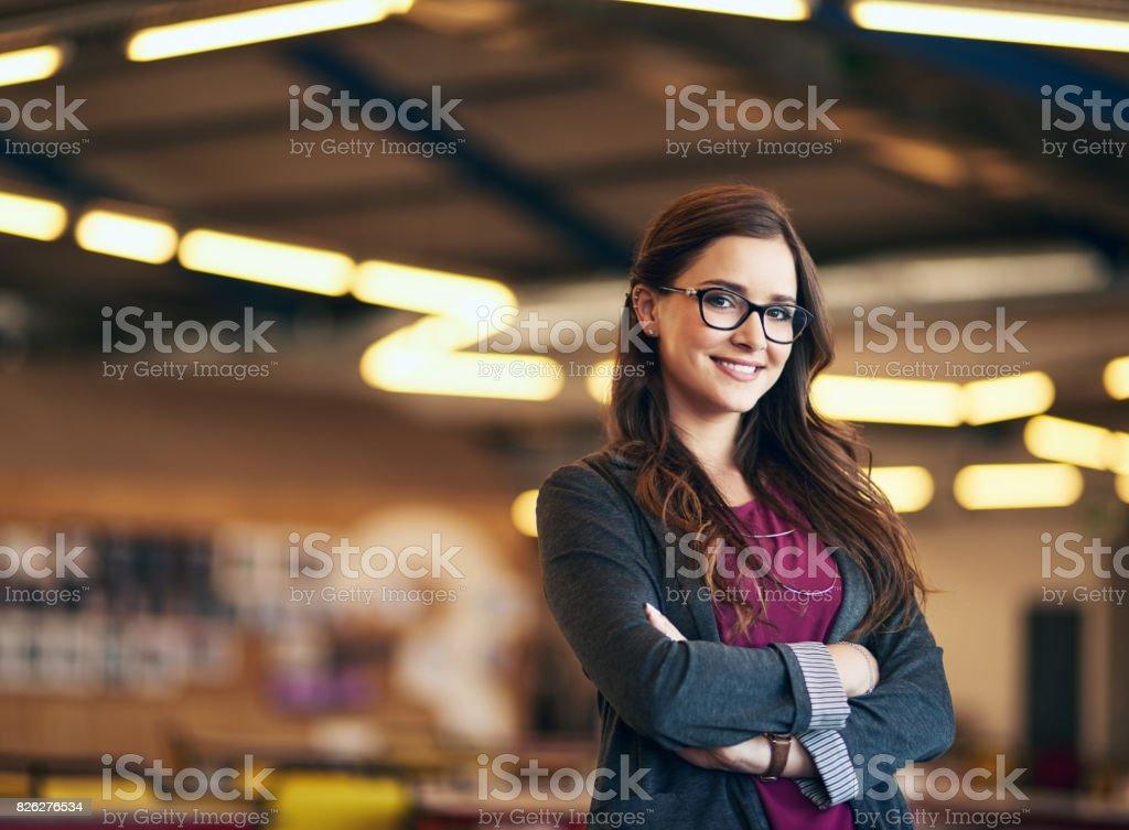 Soy joven y listo para el éxito - foto de stock