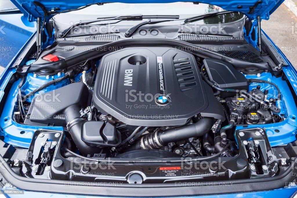 BMW M140i 2017 Engine stok fotoğrafı