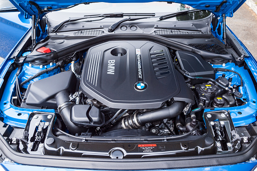 Bmw M140i 2017 Engine Stock Photo - Download Image Now