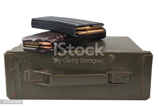 istock m16 and ak47 magazines on ammunition can 1020233060