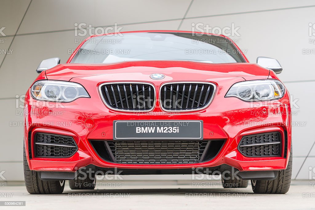 BMW M235i coupe performance series turbo mainstream sports car stock photo