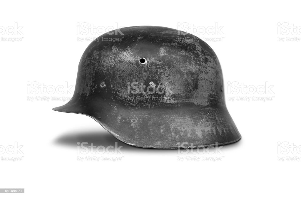 m42 style german helmet stock photo
