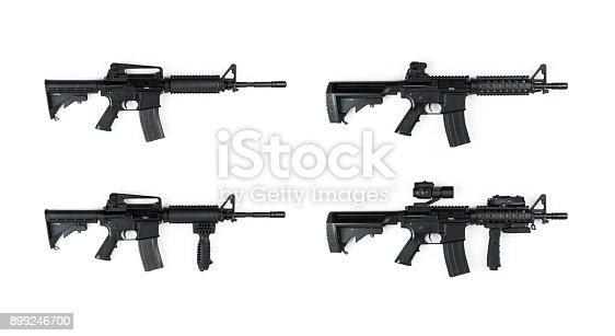 M4, Weapon, Gun, Airsoft, White Background