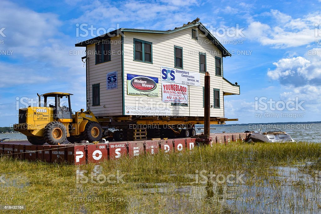 Ma Barker Hideout on Barge stock photo