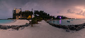 View from Maafushi island at Kaafu Atoll in Maldives.