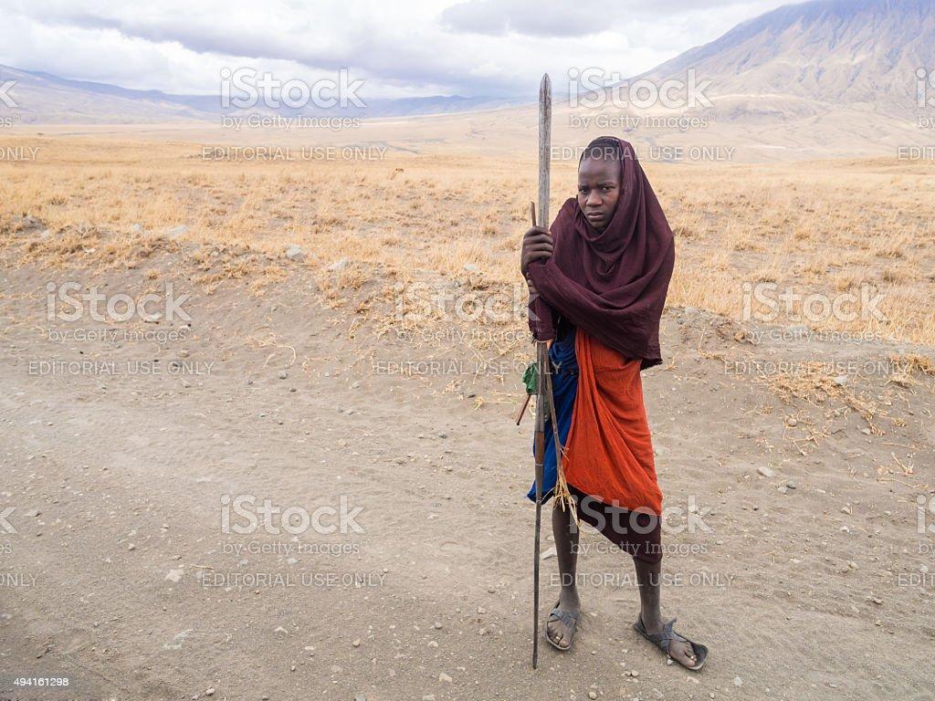Maasai in Arusha stock photo