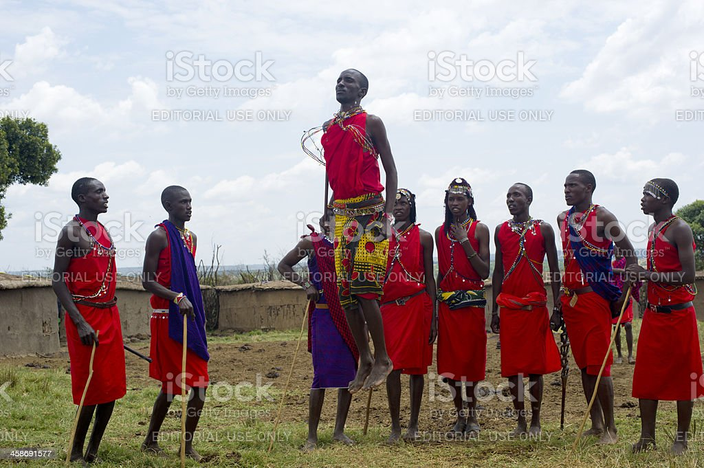 Maasai Mara Tribe royalty-free stock photo