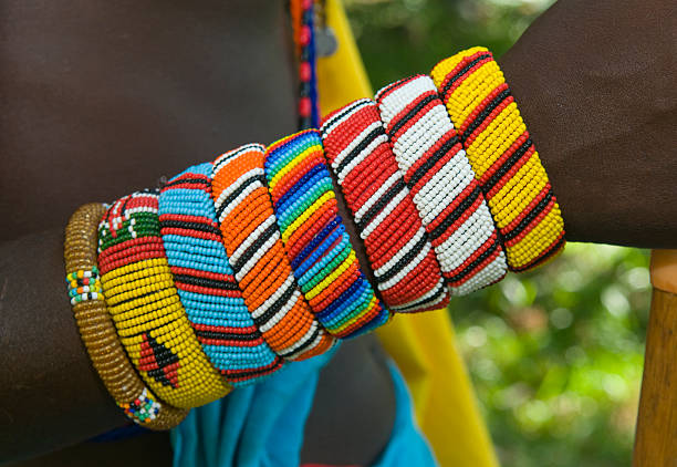 Maasai / Samburu traditional bracelets stock photo