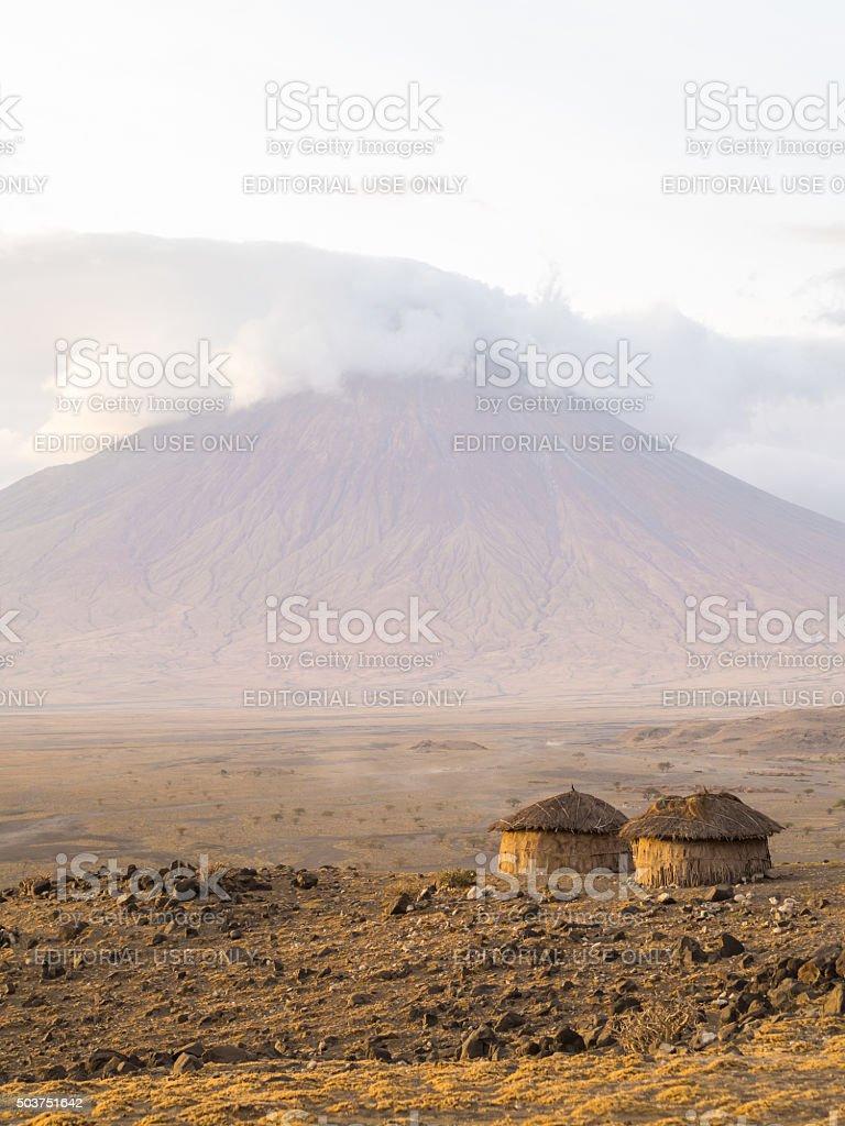 Maasai village in Arusha stock photo