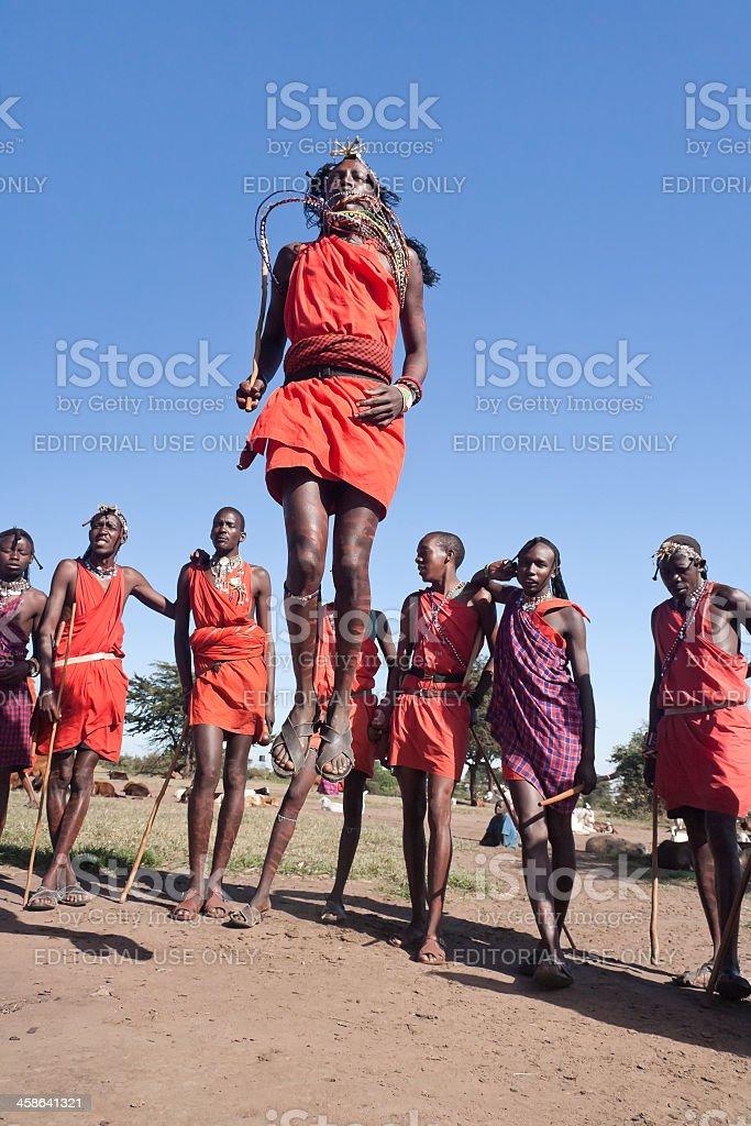 Maasai warriors stock photo