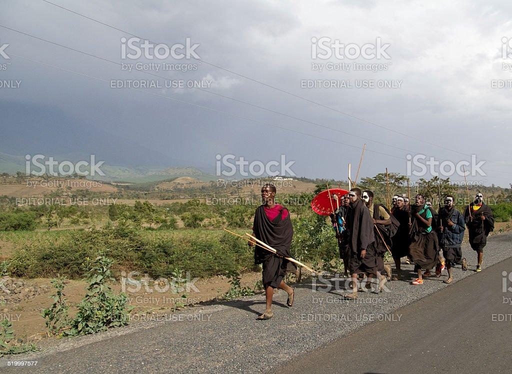 Maasai-Junge Männer in Enkipaata – Foto