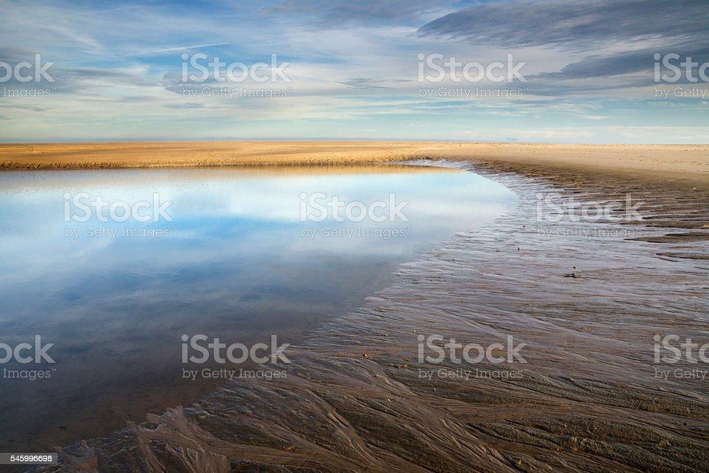Maasvlakte beach near Rotterdam stock photo