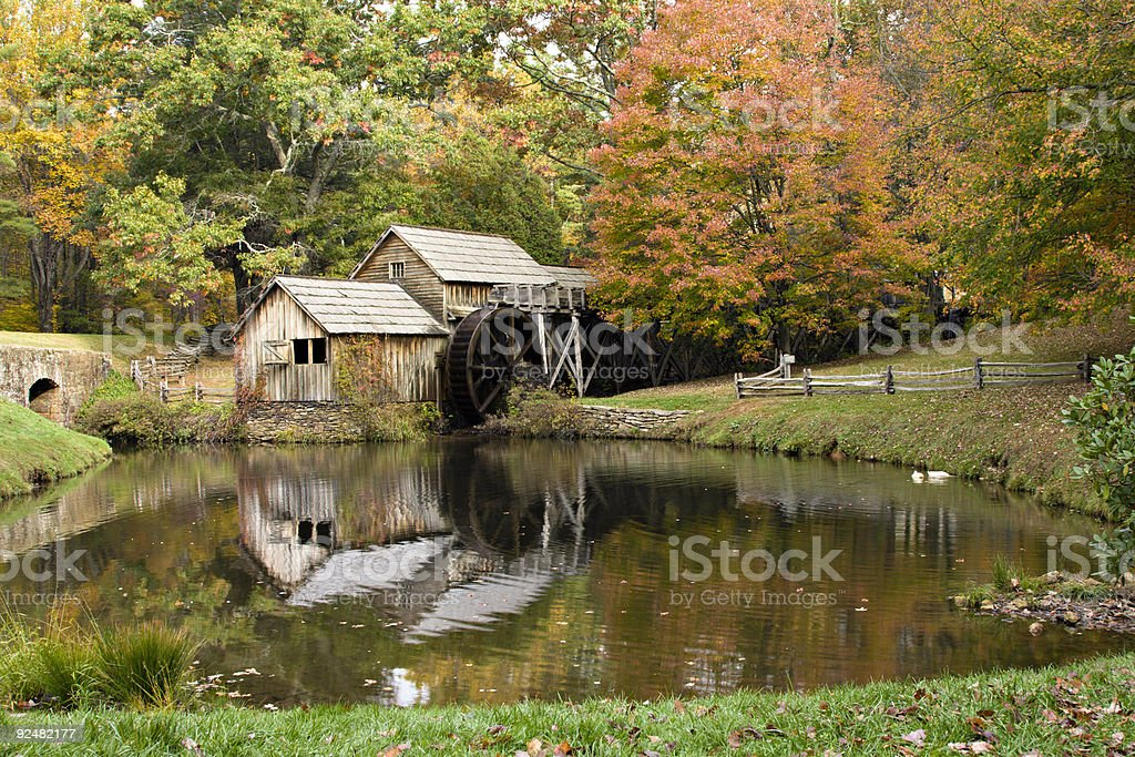 Mabry Mill in Virginia during Autumn royalty-free stock photo