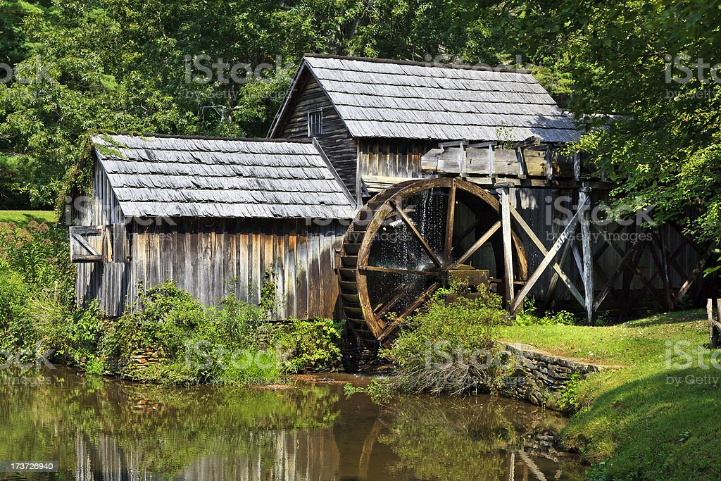 Mabry Mill on the Blue Ridge Parkway stock photo