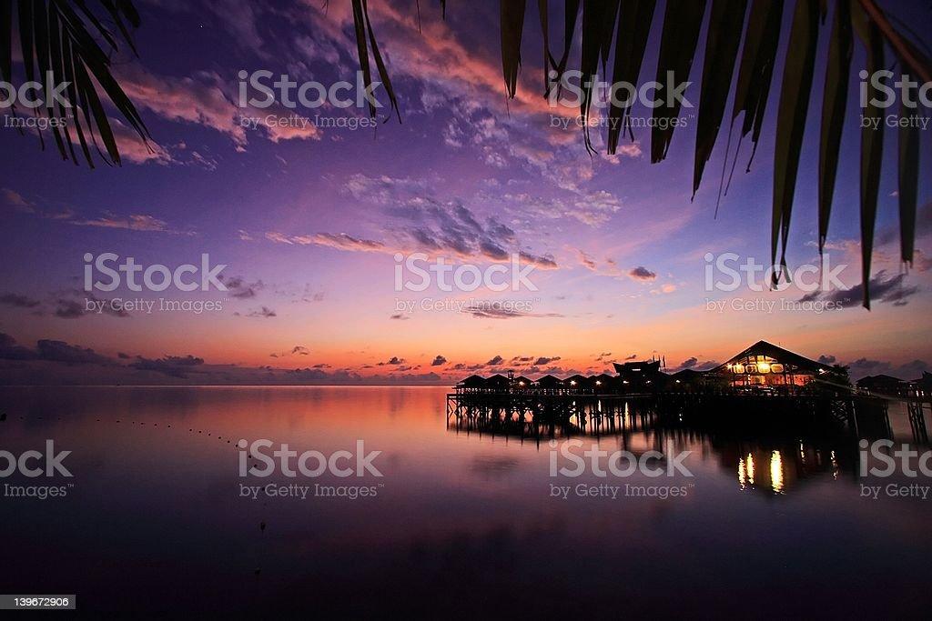 Mabul Island Resort stock photo