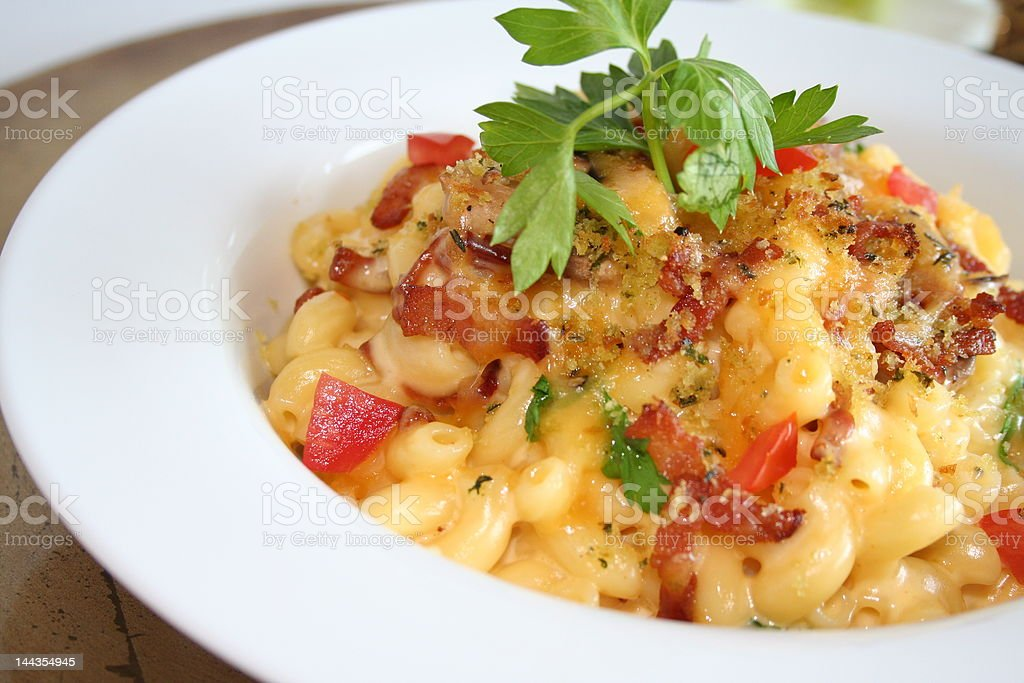 Mac and Cheese,  Gourmet Food stock photo