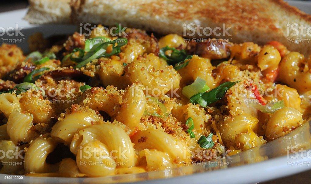 Mac and Cheese Up-Close stock photo