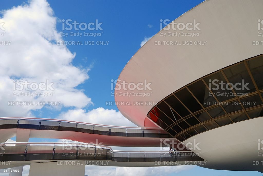 Mac - Museum of Contemporary Art at Niteroi, Brazil stock photo