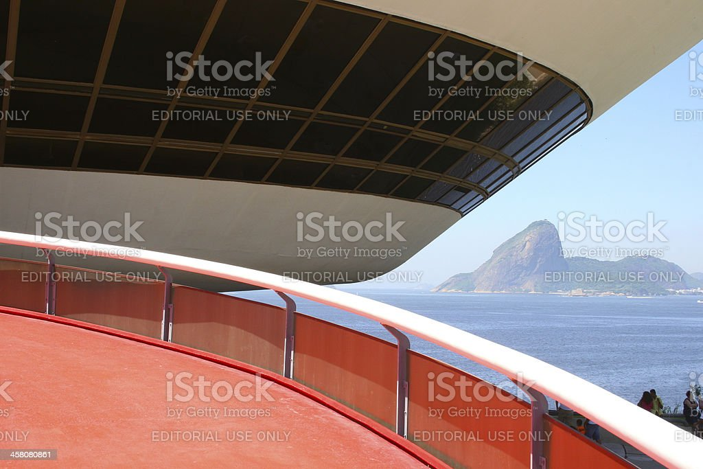 Mac - Museum of Contemporary Art at Niteroi stock photo