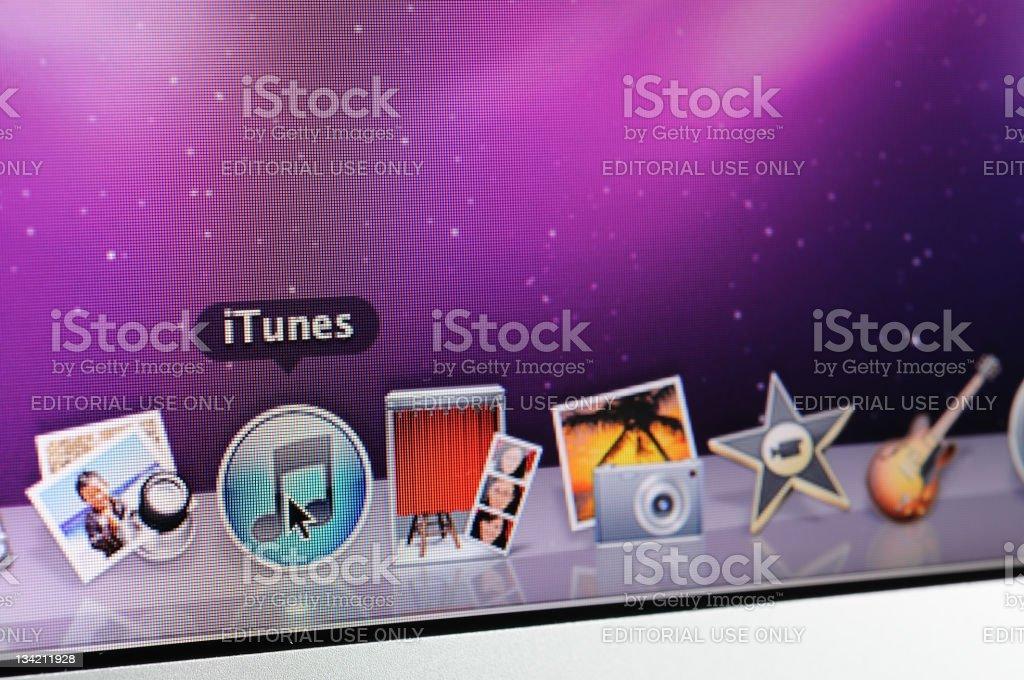 Mac OS iTunes icon royalty-free stock photo