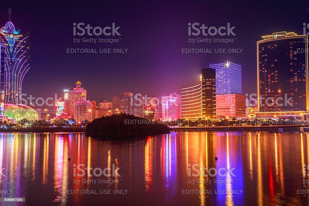 Macao Casino night stock photo