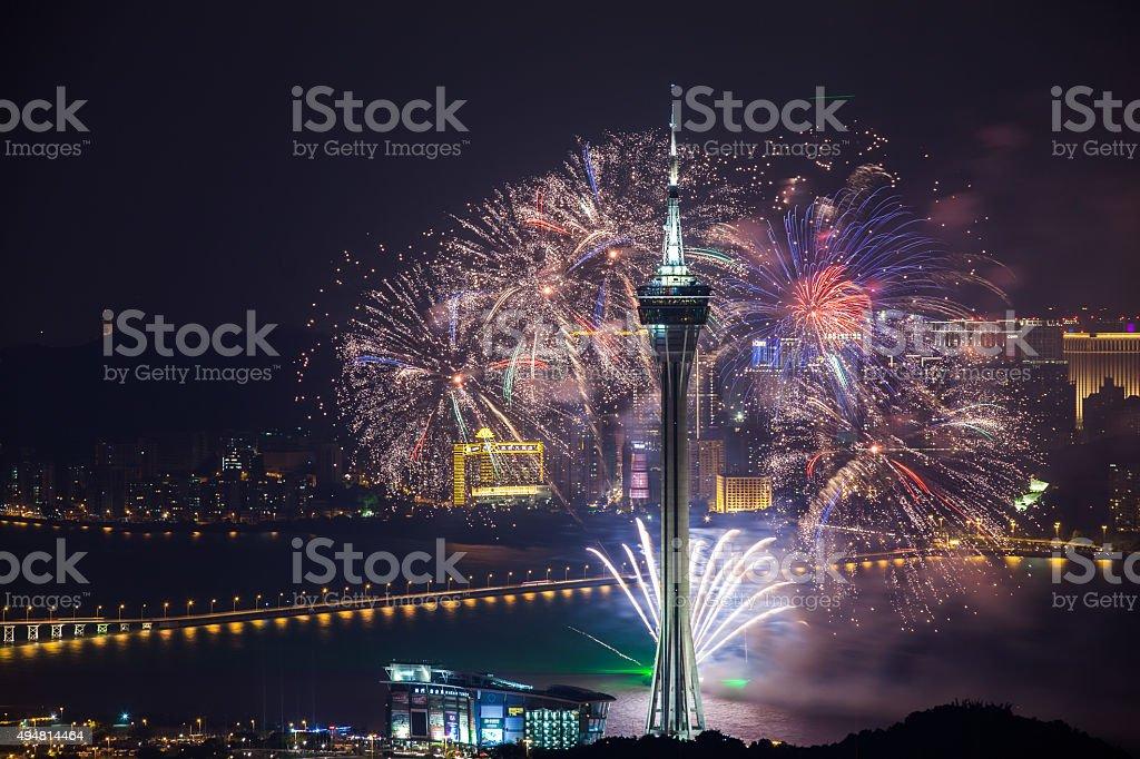 Macao Feuerwerk-Nacht – Foto
