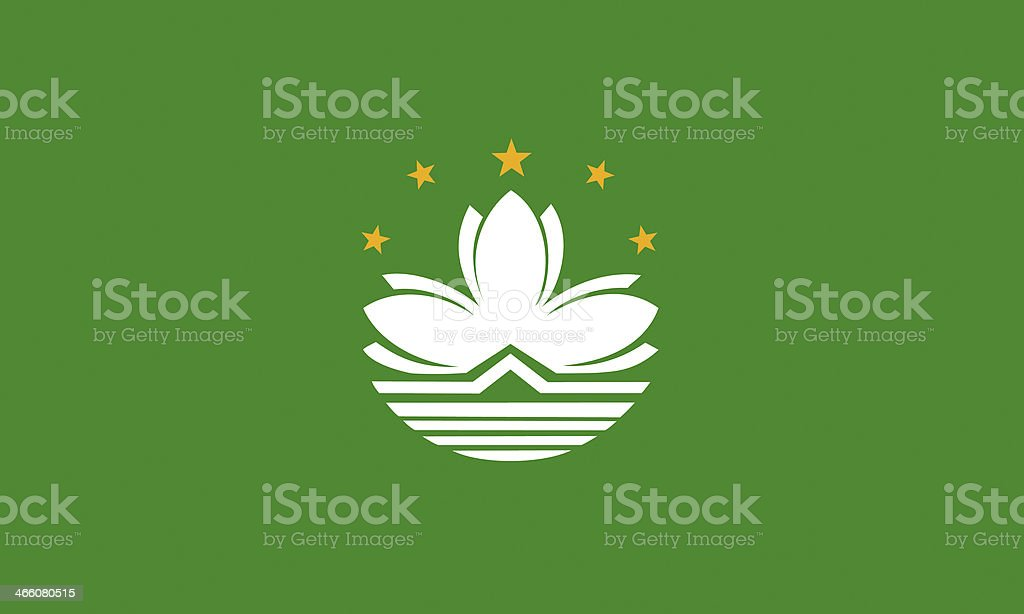 macao flag stock photo