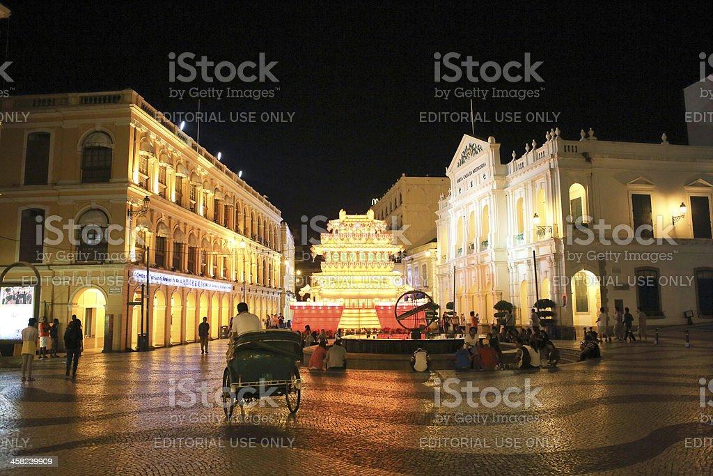 Macao senado Square stock photo