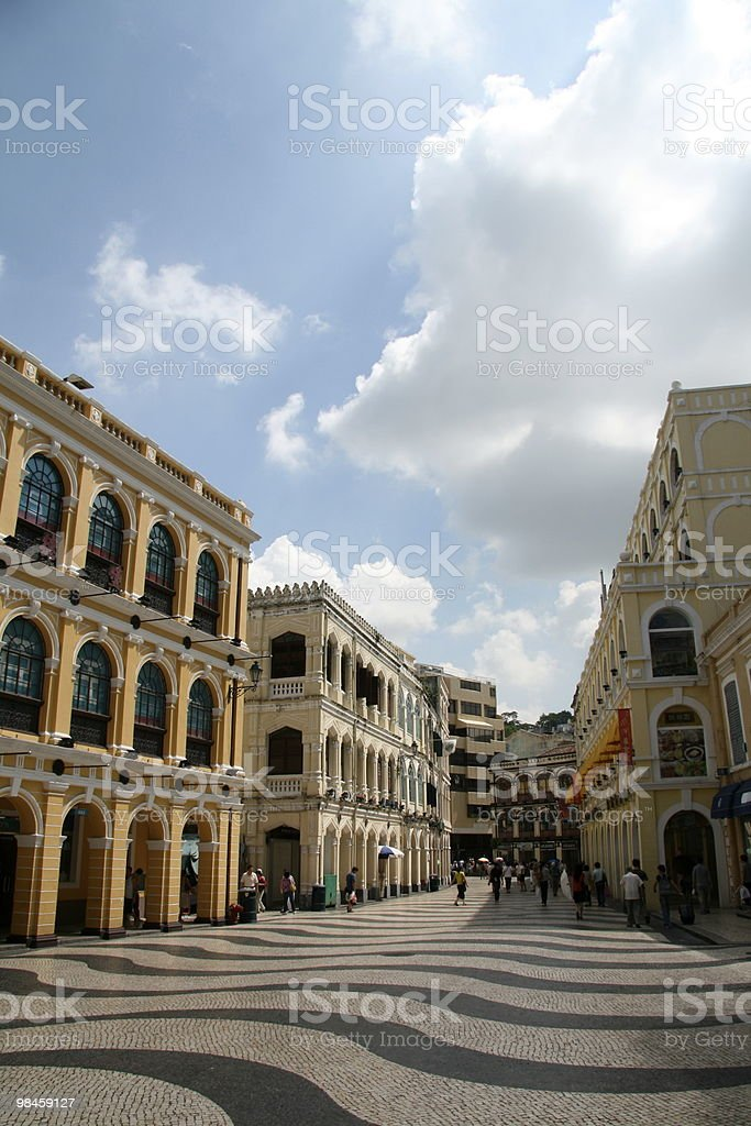 Macao Square royalty-free stock photo