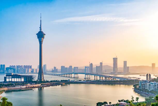 Horizonte urbano de Macao - foto de stock