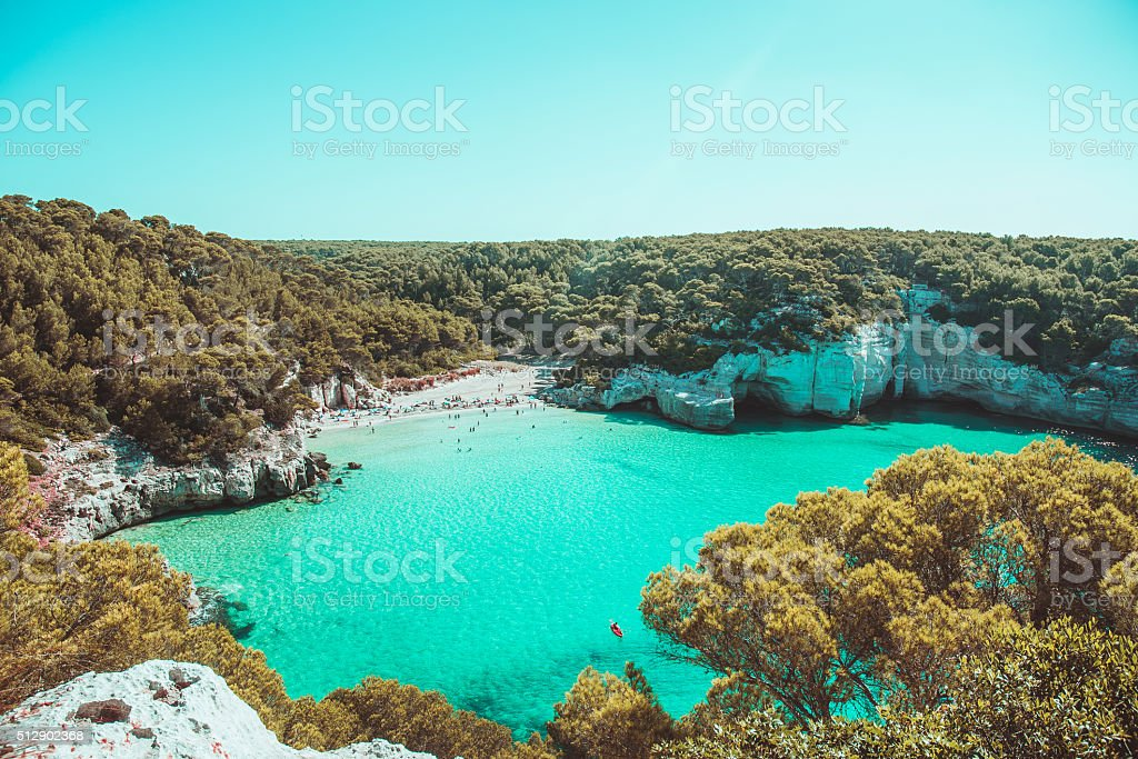 macarella beach stock photo