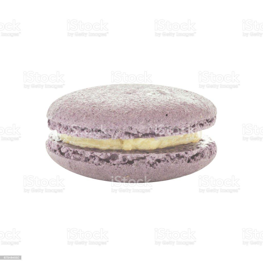 Macaron blueberry flavour biscuit layers photo libre de droits