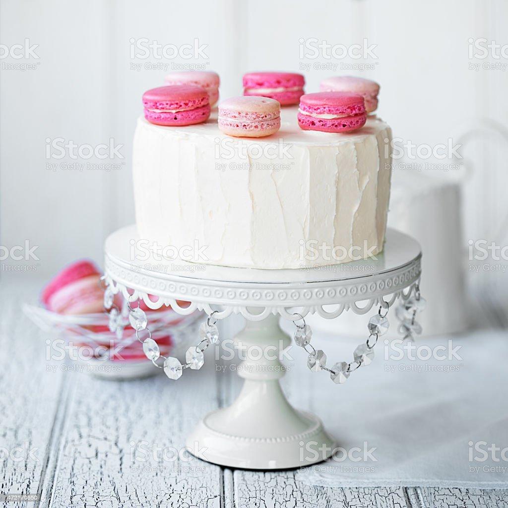 Macaron layer cake stock photo