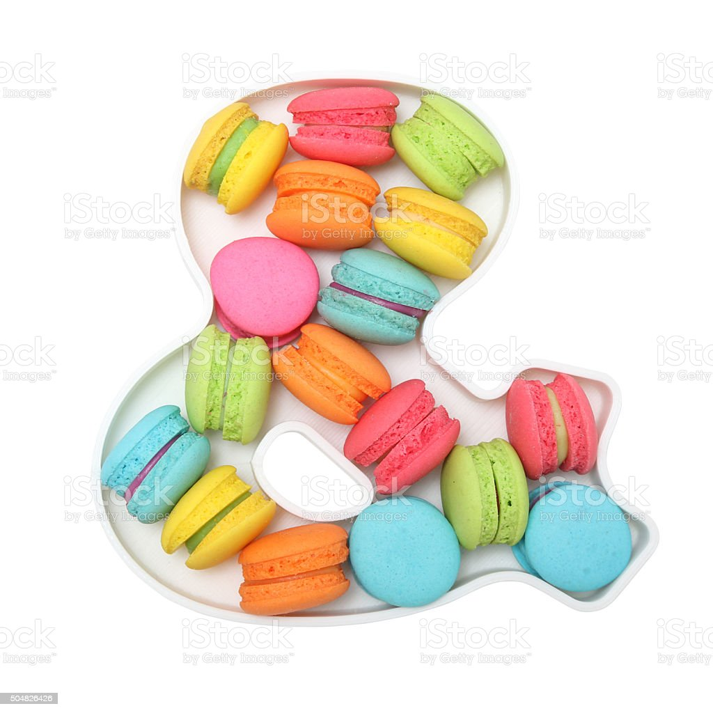 Macaron logogram & stock photo