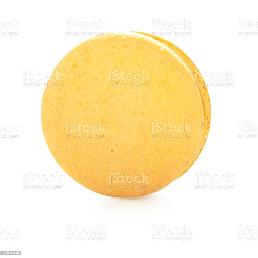 Macaron orange flavour biscuit dessert royalty-free stock photo
