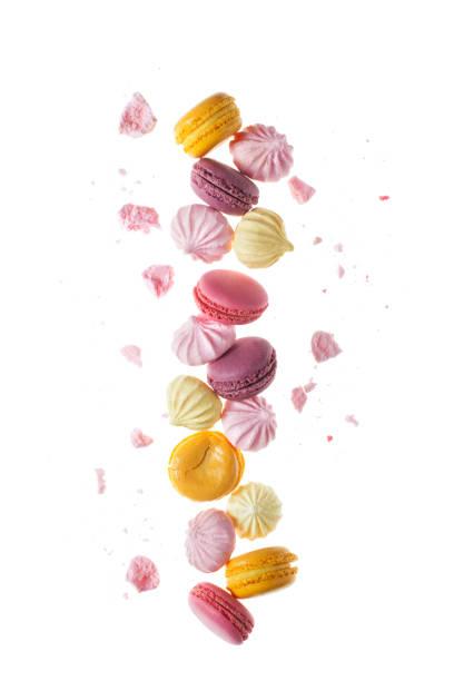 Macaron Süßigkeiten und Meringue. – Foto