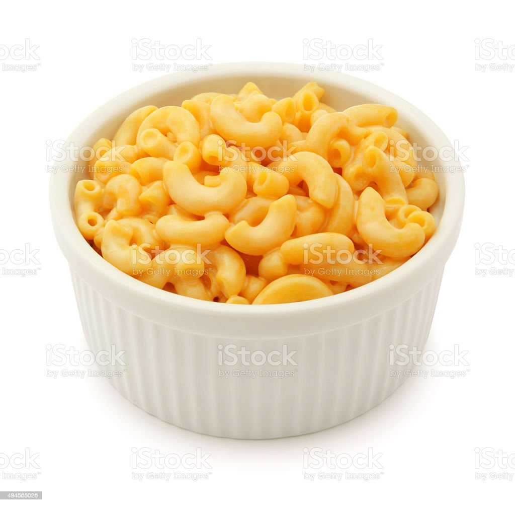Macaroni and Cheese (with path) stock photo