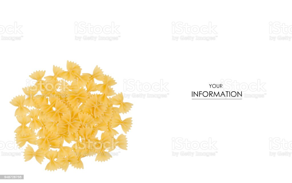 Macaroni bows pattern stock photo