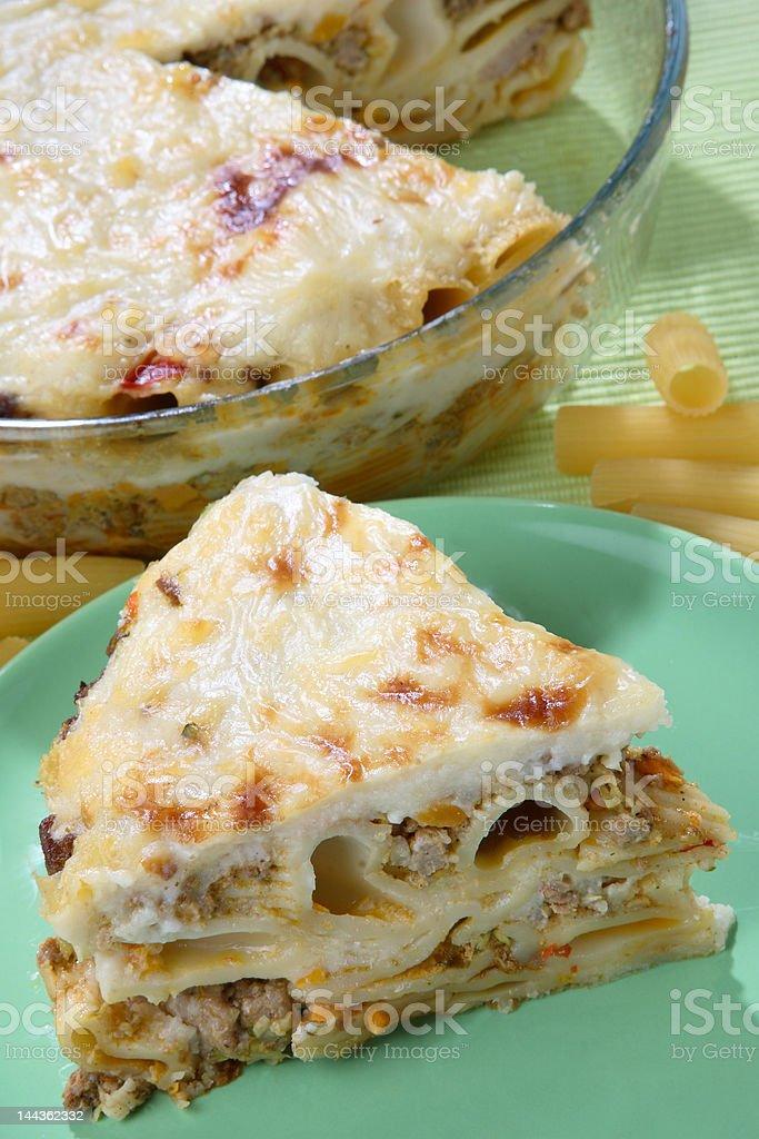 Macaroni, minced meat royalty-free stock photo
